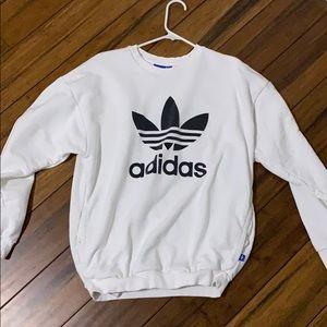 Adidas white crewneck
